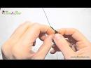 5 Урок. Листик с зарубинами из бисера. Техника французского плетения.