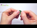 2 Урок. Круглый листик из бисера. Техника французского плетения.