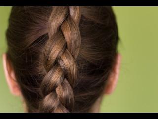 Колосок. Вывернутая(обратная) французская коса.Прически на средние, длинные волосы.Зачіски.