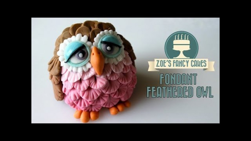 How to make a fondant feathered owl How To Cake Tutorial