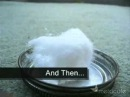 Spontaneous combustion of super glue cotton wool