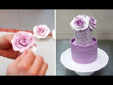 How To Form GumpasteFondant ROSES without using any tools by Cakes StepbyStep