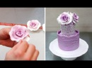 How To Form Gumpaste Fondant ROSES without using any tools by Cakes StepbyStep