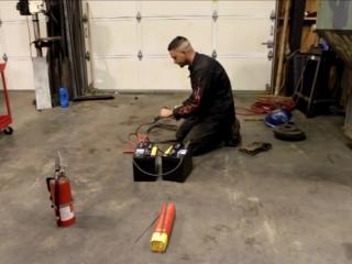 Сварка с помощью автомобильных аккумуляторов в чрезвычайных ситуациях