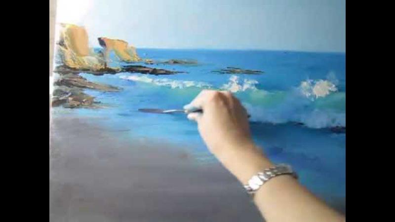 Как нарисовать море. Мастер-класс Прозрачная волна
