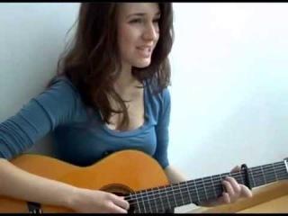 Красивая Девушка Красивая песня под гитару