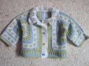 Детская кофточка Часть 1 Childrens zip jacket Crochet Part 1