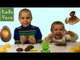 Распаковка Киндер Сюрпризов Анимал Планет с Верой и Ладой. Kinder Surprise Unboxing