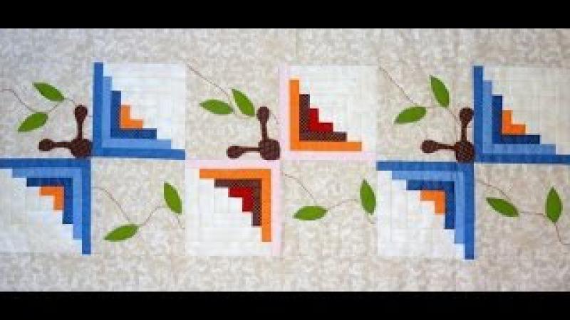 Caminho trilho de mesa em patchwork As Borboletas. Quilted patchwork and applique table runner
