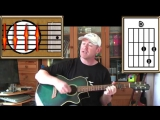 Raindrops Keep Falling On My Head - B J Thomas - Acoustic Guitar Lesson (easy)