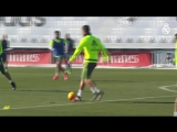 CRISTIANO RONALDO, ISCO and BENZEMA score fantastic team goals in Real Madrid training session!