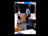 Aggressive teacher gets kicked in the balls by little girl