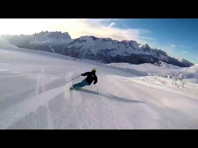 SKI CARVING CARVING SKIING - HEAD SKI - PASSO SAN PELLEGRINO - DOLOMITI SUPERSKI