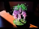 Дерево Глициния из бисера. Мастер класс.
