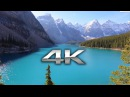 Endless Looping 4K Scene Moraine Lake Banff Alberta Nature Sounds Screensaver