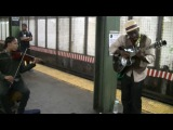 Wrecking Ball IN THE SUBWAY (Violin guitar By Guitaro 5000 and Najee. lyrics) Miley Cyrus cover