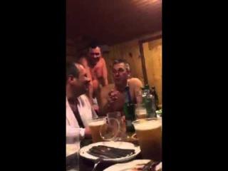 Анекдот Тост в бане