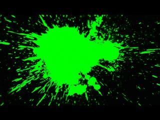 Green screen paint splat