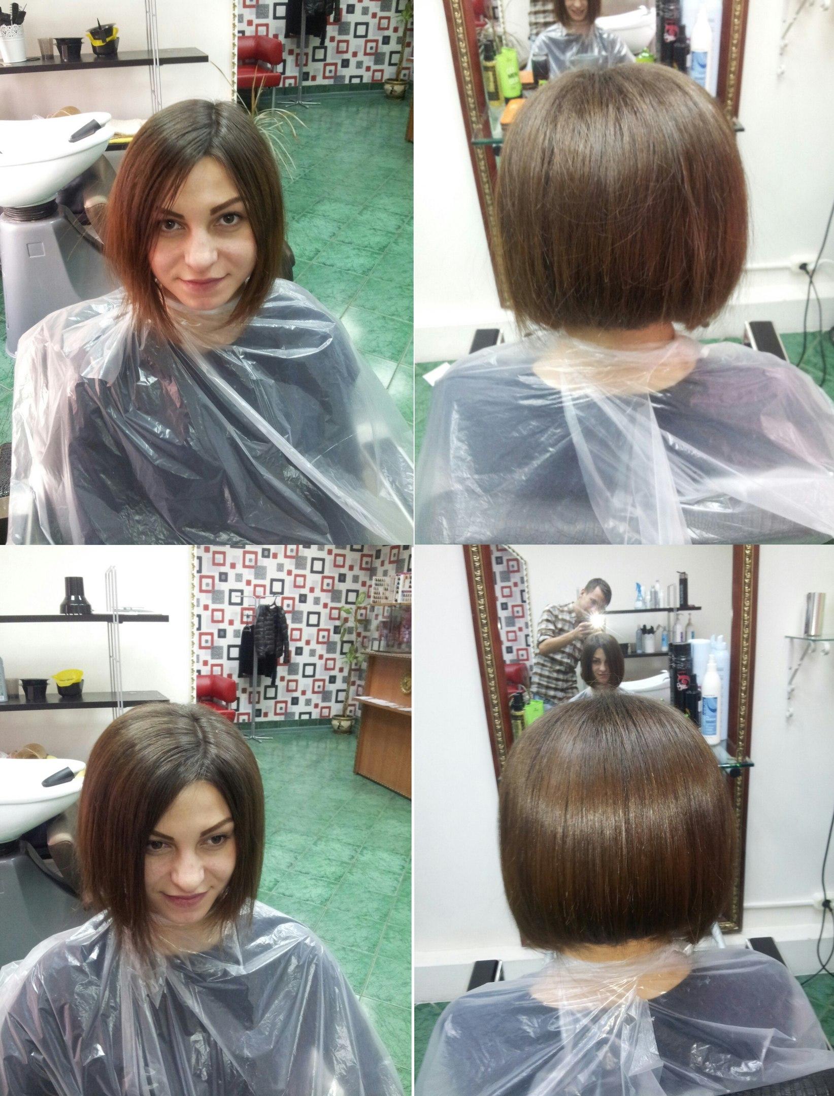 повторный буст ап + кератинове выпрямление волос