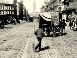 San Francisco Dashcam A Trip Down Market Street 1906 (Sound Track - Moon Safari - La femme d'argent)