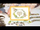 Flow™ Illustration with pressed fern - Speed Art Timelapse by Helen Ahpornsiri - Bee hive