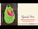 Canasta colgante organizadora tejida en crochet XL en trapillo Crochet hanging basket tutorial