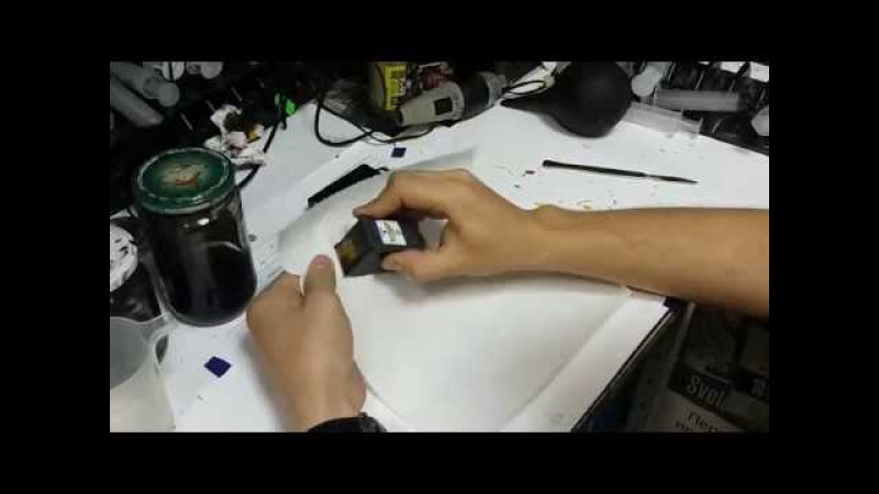 Как заправить картридж HP 122, 121, 21, 132, 56, 131, Canon 510, 512, 445