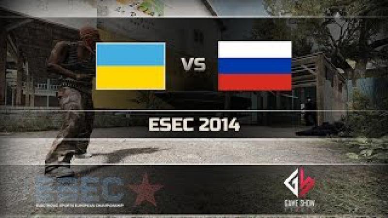 Russia vs.Ukraine - ESEC 2014 @de_overpass (1 map)