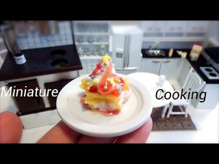 Miniature Food #22-ミニチュア料理『星のフレンチクリーム-Star French cream-』 Miniature Cooking show ミニチュア&