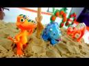 Dinosaur Train! Tirex attack on the island! Поезд динозавров! Нападение Тирекса на острове!