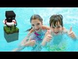 Прикольное видео в аквапарке Карибия: лучшая подружка Света и ютуб блогер Адриан катаются с горок