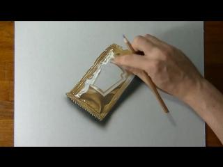 Как реалистично нарисовать пакетик горчицы