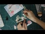 Простая 3 Д открытка с цветами на 8 марта. Скрапбукинг. Tutorial- Pop-up card 3d flowers