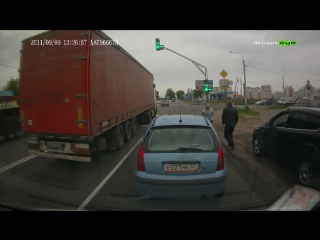 Дорожные разборки в Орле