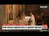 папа римский Франциск совершает чудо