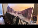 Мастер-класс Игоря Сахарова в Москве, живопись маслом, уроки живописи