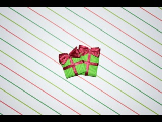 GIFT PRESENT Ribbon Sculpture Christmas Holiday or Birthday Hair Clip Bow DIY Free Tutorial by Lacey