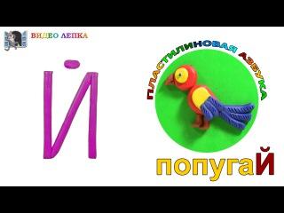 Пластилиновая азбука БУКВА Й. Лепка из пластилина для детей. ПОПУГАЙ