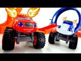 Видео для мальчиков с машинками. Вспыш и Чудо-машинки. Новая трасса. Машинки и джипы для детей
