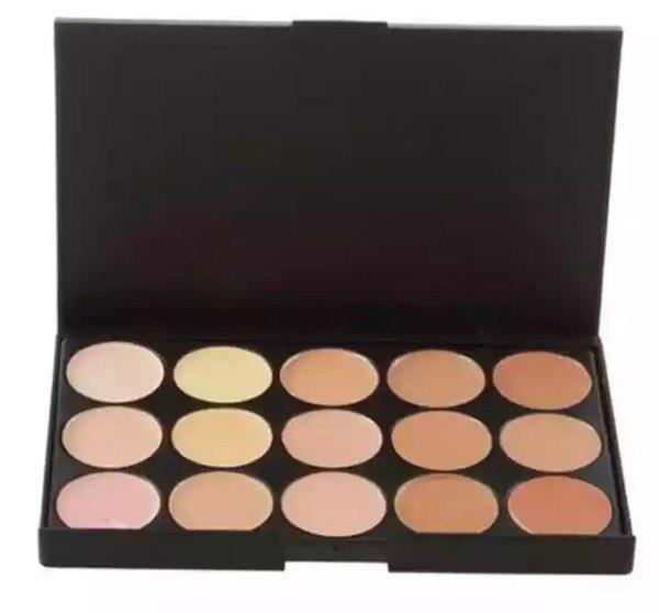 15 Colors Face Powder Cream Pro Contour Makeup Concealer Palette Camouflage