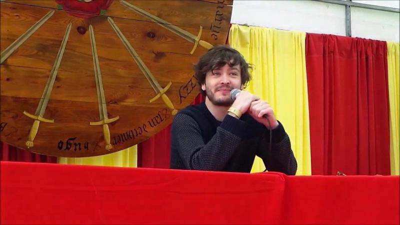 Alexander Vlahos Алекс Влахос на Elf Fantasy Fair (Elfia, 19-04-2014) Часть 4, о блуперсах в Мерлине