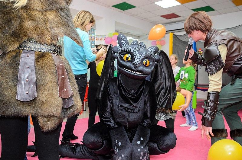 """Программа """"Как приручить дракона"""" на детский день рождение, Севастополь."""