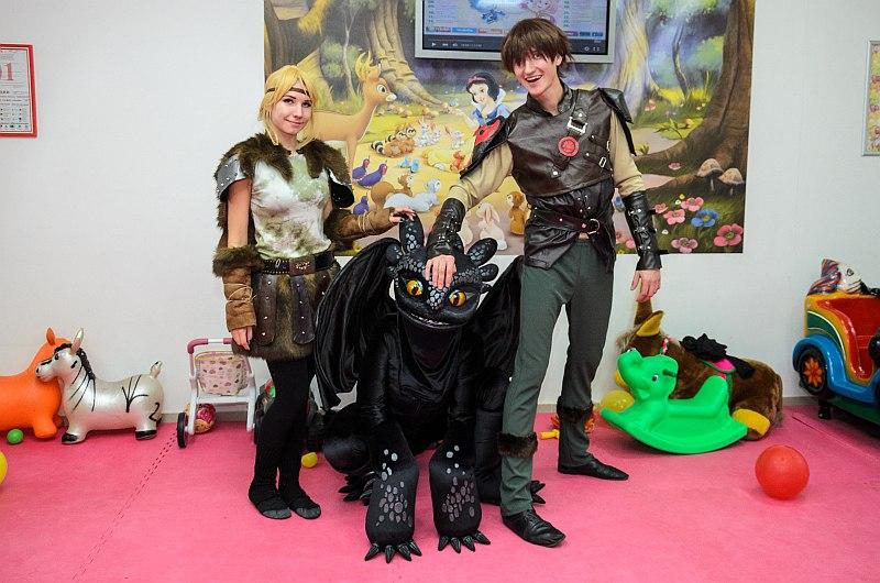 Дракон Беззубик, ночная фурия на детский день рождение в Севастополе