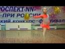 Мажоретки-танцы с помпонами, кадетки. Попова Евгения