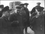 Руководители СССР - Сталин, Молотов, Ежов на строительстве канала им. Москвы, 1937 г. Кинохроника