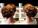 Прическа на выпускной,свадебная прическа💜Wedding prom hairstyle