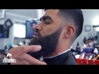 Skin Fade Faux Hawk with a Beard Trim Haircut Men Tutorial - (Showcase)
