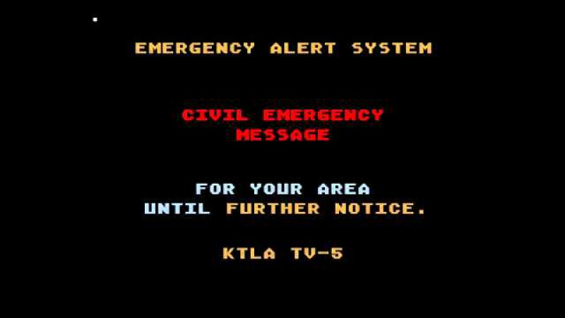 Los Angeles Nuclear Attack Mock Emergency Alert System Activation