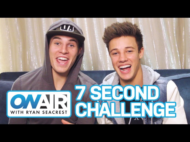 7 SECOND CHALLENGE w/ Cameron Dallas Marcus Johns | On Air with Ryan Seacrest