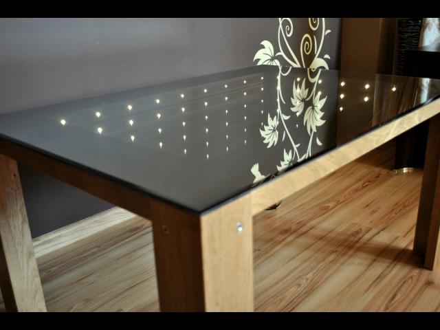 Stoły z lustrem nieskończoności. Tables with infinity mirrors